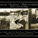 Elegant Black with Three Photos Photo Adult Birthday Invitations