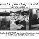 Black and White with Three Photos Photo Adult Birthday Invitations