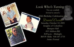Classic Multi-Photo Collage Now Then Photo Adult Birthday Invitations