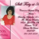 Delicate and Elegant Pink for Woman Photo Adult Birthday Invitations