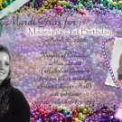 Mardi Gras Theme Celebration Photo Adult Birthday Invitations