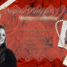 Red Roses Multi-Photo Photo Adult Birthday Invitations