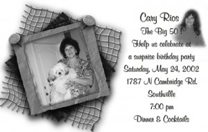 White Background and B/W Photos Photo Adult Birthday Invitations
