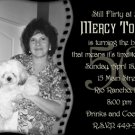 Elegant Filmstrip Black and White Photo Adult Birthday Invitations