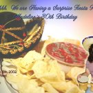 Mexican Fiesta Nachos and Hat Photo Adult Birthday Invitations