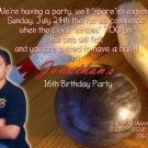 Bowling Photo Adult Birthday Party Invitations