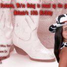 Western Themed Cowboy Boots Tinted Photo Adult Birthday Invitations