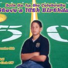 Football Themed Party Photo Adult Birthday Invitations