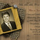 Trendy Chic Vintage Photo Adult Birthday Invitations