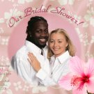 Hawaiian Luau Flower Tropical Photo Bridal Shower Invitations