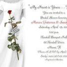 Bride Holding Rose BW Personalized Photo Bridal Shower Invitations