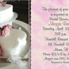 Wedding Cake with Hearts Personalized Photo Bridal Shower Invitations