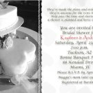 Wedding Cake with Hearts Black & White Photo Bridal Shower Invitations
