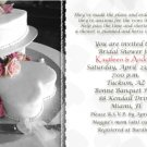 Wedding Cake with Hearts BW Photo Bridal Shower Invitations