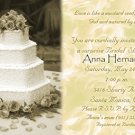Antique Vintage Wedding Cake Golde Photo Bridal Shower Invitations