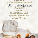 Doves Wedding Cake Personalized Photo Bridal Shower Invitations