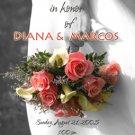 Colorful Wedding Bouquet Black & White Photo Bridal Shower Invitations