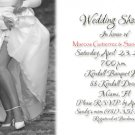 Sexy Modern Black and White Photo Bridal Shower Invitations