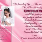 Pink any Color Photo Communion Invitations & Confirmation Invitations