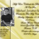 Gold any Color Photo Communion Invitations & Confirmation Invitations
