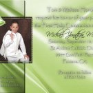 Green any Color Photo Communion Invitations & Confirmation Invitations