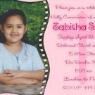 Pink Cross Photo Communion Invitations & Confirmation Invitations