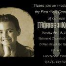 Elegant Black Photo Communion Invitations & Confirmation Invitations