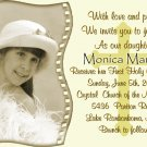 Golden Cross Photo Communion Invitations & Confirmation Invitations