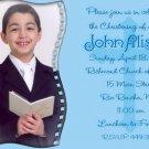 Blue Cross Photo Communion Invitations & Confirmation Invitations