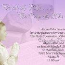 Lavender Bible Bread Photo Communion Invitations & Confirmation
