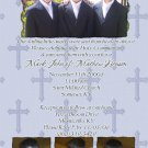 Four Photos Blue Photo Communion Invitations & Confirmation