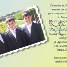 Collage of Photos Yellow Blue Photo Communion Invitations
