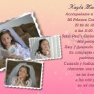 Collage of Photos Pink and Peach Photo Communion Invitations