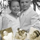 Collage of Photos up to Five Photo Communion Invitations