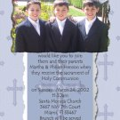 Blue Crosses Photo Communion Invitations & Confirmation Invitations