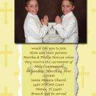 Gold Crosses Photo Communion Invitations & Confirmation Invitations