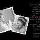 Elegant Black for Girls Photo Communion Invitations & Confirmation