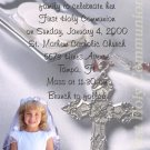 Elegant Cross Photo Communion Invitations & Confirmation Invitations