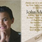 Mocha Coffee and Swirls Photo Communion Invitations & Confirmation