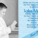 Blue and Swirls Photo Communion Invitations & Confirmation Invitations