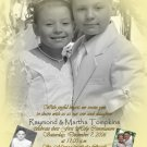 Gold Multi Picture Photo Communion Invitations & Confirmation