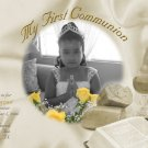 Elegant Vintage Satin Photo Communion Invitations & Confirmation