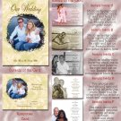 Golden Roses or Any Color Folded Photo Wedding Invitations Package