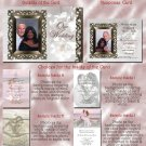 Vintage Frame & White Flowers Folded Photo Wedding Invitations Package