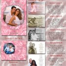 Pink Roses or Any Color Folded Photo Wedding Invitations Package