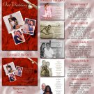 Red Roses Multi Pictures Folded Photo Wedding Invitations Package