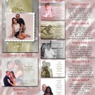 Rhinestones in Any Color Folded Photo Wedding Invitations Package