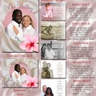 Hawaiian Luau Tropical Folded Photo Wedding Invitations Package
