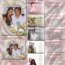 Calla Lilly Elegant Folded Photo Wedding Invitations Package
