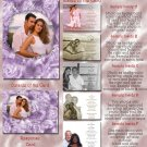 Lavender Roses or Any Color Folded Photo Wedding Invitations Package
